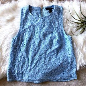 Carolina Blue sleeveless lace tank Forever 21